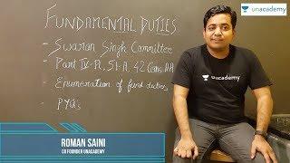 UPSC: Insights & Essentials with Roman Saini | Episode 1 - FUNDAMENTAL DUTIES