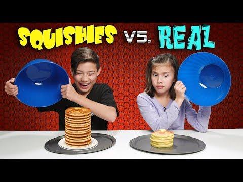 Xxx Mp4 SQUISHY FOOD VS REAL FOOD CHALLENGE Attack Of The JUMBO Squishies 3gp Sex