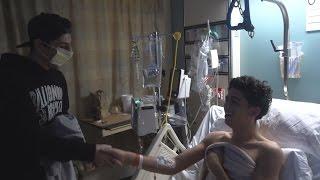 Surprising a Fan in the Hospital #PrayforAbe
