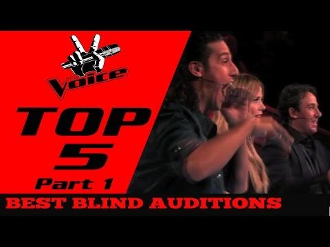 BEST TOP 5 THE VOICE in The World Blind Auditions Part 1