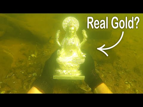 I Found a Rare Statue Underwater While Searching Drained River VR180 River Treasure
