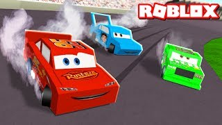 Race LIGHTNING MCQUEEN in Roblox! (Cars 3 Movie)