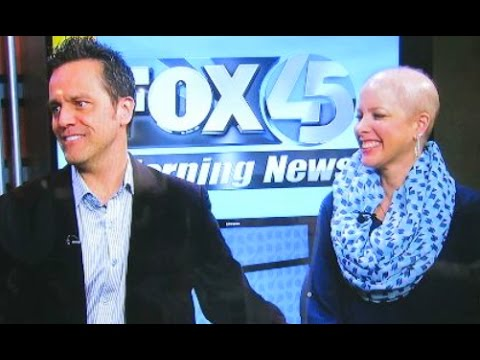Jenn and Nes on Fox 45 to promote bone marrow registry and May 19th leukemia event