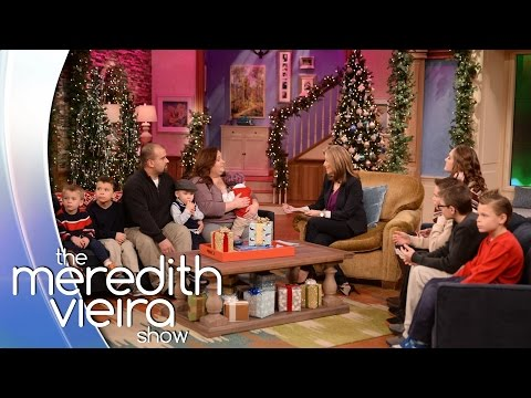 Secret Santa Surprise For A Family Who Adopted 8 Brothers The Meredith Vieira Show