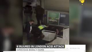 6 injured in an acid attack in London, 1 arrested on suspicion