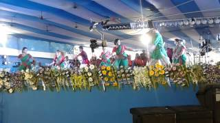 Performance  by the students of Kazi Nazrul  University on the event of declaration of new District