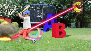 Laser game Pretend Play Letter ABC Alphabet Monster BUGS