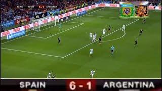 اهداف اسبانيا و الارجنتين (6-1) - Goals Argentina vs Spain  - 27/3/2018