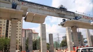 LRT Ampang Extension Segment Lifting (Launching-SBG) 2013