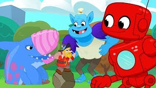 Giant Friends Golf & Big Creatures (Robot, Mountain Giant, Earthshark, Monster, Dinosaurs) for Kids!