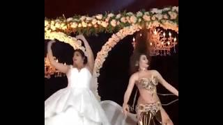 belly hot dance in weeding party  رقص عربی که در عروسی که دوماد رو گول میزنه و عروس تنها میشه