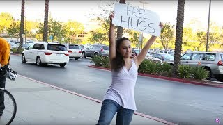 FREE HUGS Experiment!!! Appearance VS. Gender???