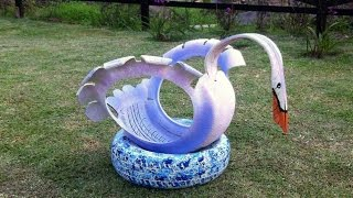 Things Made From Used Tires IN A Garden ᴴᴰ █▬█ █ ▀█▀