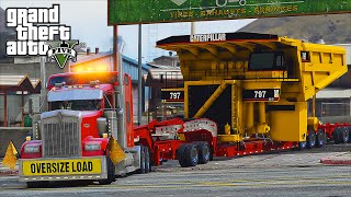 American Truck Simulator Heavy Haul Mod LSPDFR Escort in Grand Theft Auto V Online