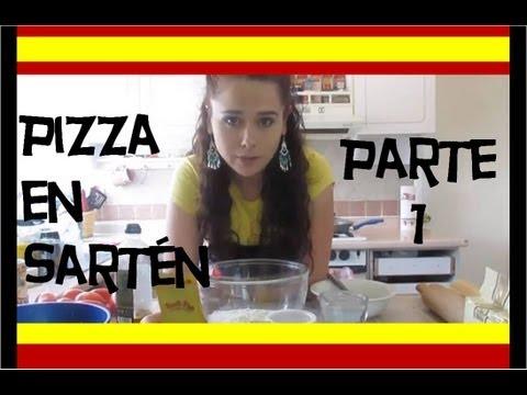 como hacer pizza en sarten parte 1