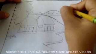 village scene drawing and coloring hd video for kids | part 01 | Arian_Art_School |