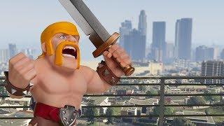 Clash Royale in GTA 5 | Barbarian vs Plane