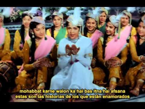 Teri mehfil, Mughal-e-Azam, subtitulado en español e hindi.