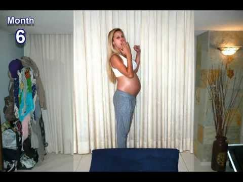 9 months in 1000 pictures stop motion Pregnancy time lapse Osher Tomer and Baby Emma