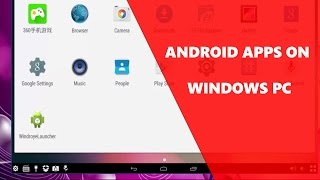 How To Run ANDROID Apps On PC [WINDOWS 10/7/8]