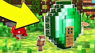 HOW TO LIVE INSIDE A EMERALD IN MINECRAFT!