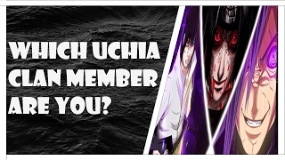which Naruto character are you?(Uchiha clan only)