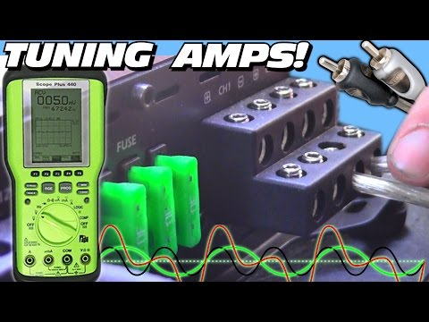 Tuning a Car Audio System w Two Subwoofer Bass Amps & 4 Channel Amplifier How To Set OSCOPE Gains