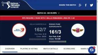 DD VS PUNE IPL 2016 higjlights