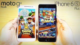 Moto G4 Plus vs iPhone 6S Plus- SPEED TEST (Surprise!)