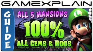 100% Luigi's Mansion 2: Dark Moon - Guide & Walkthrough (All 65 Gems and 23 Boos + Puzzles!)