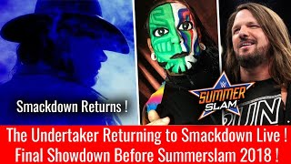 The Undertaker Returns to Smackdown Live ! WWE Smackdown 14 August 2018 Highlights Smackdown 8/14/18