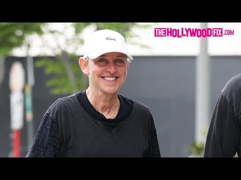 Ellen Degeneres Shuts Down TMZ Paparazzi Questions While Rug Shopping With A Friend 6.6.17