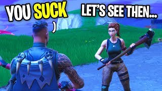 This Guy Thought I Was BAD But Then He SPECTATED ME In Fortnite... (he freaked out)