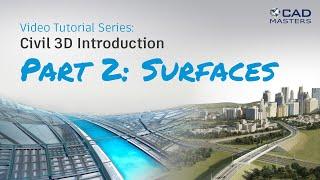 Civil 3D Tutorial 2: Surfaces