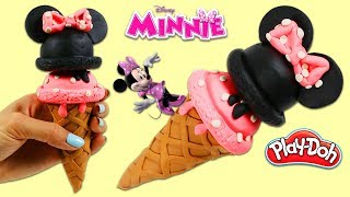 How to Make a Play Doh Disney Minnie Mouse Ice Cream Cone!