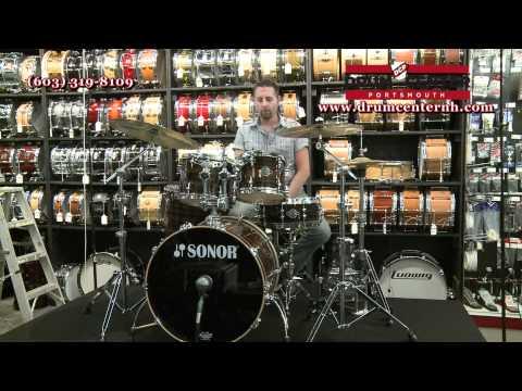 Sonor Ascent Beech 5 Piece Drum Set Ebony Stripes