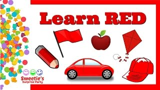 Learn the Color Red | Preschool and Toddler Learning | Learn English #preschool #toddlers