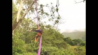 Saffron Van Rossem Aerial Dance in Guatemala