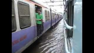 MUMBAI LOCAL TRAINS in MONSOON