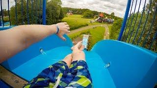 Tosselilla Sommarland - Tossestupet   Freefall Speed Slide Onride POV