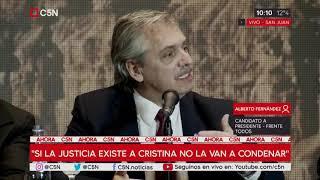 Conferencia De Prensa De Alberto Fernández En San Juan