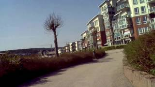 Kristiansand, bicycle tour, 7 May 2016, video 2 (Denver AC-1300 action cam, test)