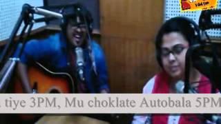 RJ KOMAL OF RADIO CHOKLATE 104 FM WITH SINGER BISWAJIIT