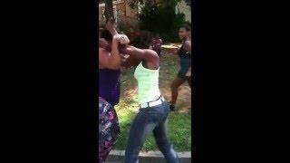 Girl Get KO For Instagram Comments [EPIC HOOD FIGHT]