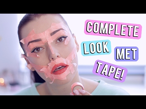 Tape tutorial ❤ complete make-up look met washi tape | Beautygloss