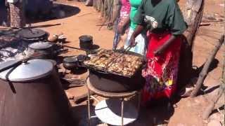 Cooking at a Zimbabwean village