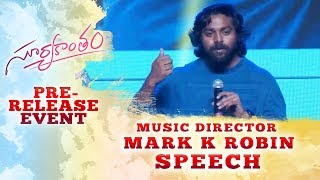 Music Director Mark K Robin Speech @ Suryakantham Pre Release Event