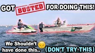 COP PULLS US OVER IN THE OCEAN!! (WHAT?!)