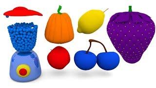 Learn Color Fruits Blender Surprise Cartoon 3D Nursery Rhymes for Children