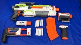 Nerf Modulus With Attachments Toy Gun Grip Clip Scope Tac Light